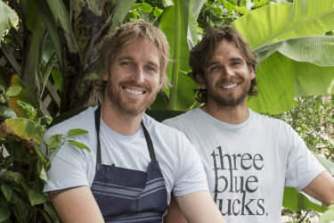 Darren Robertson and Mark LaBrooy of Three Blue Ducks restaurant in Bronte.