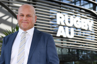Rugby Australia interim CEO Rob Clarke says the World Rugby money will be used to see the game through the next 12 months