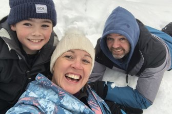 Michelle Lovell, Lyndon Mitchell and their 10-year-old son Grady Mitchell moved to Falls Creek.