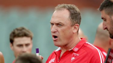 Working group: Sydney Swans coach John Longmire.