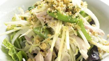 Chicken, celery, fennel and herb and mayonnaise salad at Zinc, Potts Point.