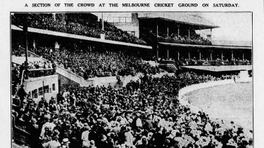 A large crowd gathered to watch the third Test at the MCG.