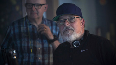 Jonathan Frakes directing the action on the set of Star Trek: Discovery.