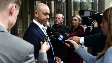 NRL CEO Todd  Greenberg addresses the media.