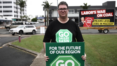 George Christensen, at a pro-coal rally in Queensland last year, will chair the inquiry.