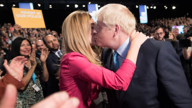 Prime Minister Boris Johnson with Carrie Symonds in October 2019.