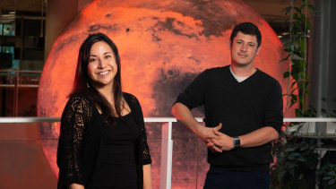 Adjunct Professor David Flannery (right) and PhD research student Vanessa Zepeda.