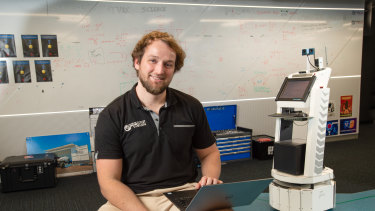 Dr Ben Talbot has been leading the QUT team putting the robots through their paces.