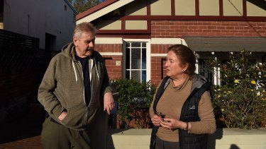 Rosemary Gates (right) fears the blast could damage her home.