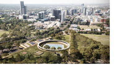 An artist's impression of the new Paramatta Pool.