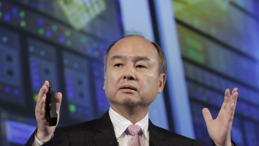 SoftBank chief Masayoshi Son apologised to investors for his role in inflating the perceived value of WeWork.
