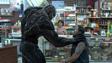 Venom has the teeth of a raptor, the tongue of Kiss' Gene Simmons and the vigilante instincts of Dirty Harry.