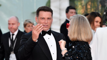 Karl Stefanovic returned to the spotlight on the Logies red carpet.