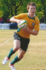 Code-hopper: Damien Cook in action for the Australian Combined High Schools rugby union side.