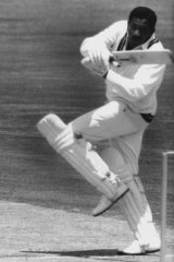 West Indies batsman Basil Butcher on the hook during a brilliant 172 Perth in 1968, which he followed with 143 not out.