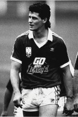 Former Kangaroo Peter Jackson during his playing days.