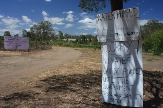 Locals have been warned not to use water at the Riverview Community Garden.