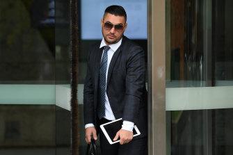 Salim Mehajer leaves Parramatta District Court on Tuesday.