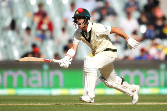 David Warner played a magnificent innings at the Adelaide Oval.