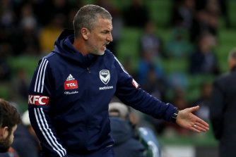 Banned: Victory Coach Marco Kurz has been suspended for one match following a foul-mouthed rant at officials.