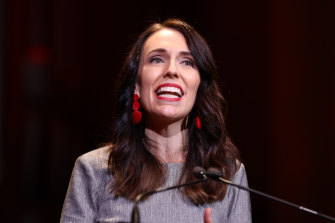 New Zealand Prime Minister Jacinda Adern at the Labour Party election campaign launch in Auckland on Saturday.