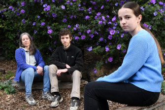 Lesley Cromer is relieved her children, Ben, 17, and Isabelle, 13, will both be able to be vaccinated from next month.