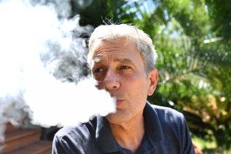 David Stephens now smokes e-cigarettes.
