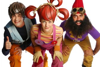 Michael Balk as Scrapboy, Maree Lowes as Dirtgirl and Georgiadis as Costa the garden gnome.