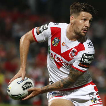 Top man: Widdop is the NRL's top point-scorer after the Dragons kicked off the season with six wins.