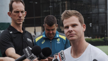 Steve Smith is eligible to return for Australia in March next year.
