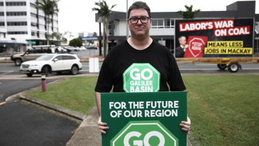 George Christensen at a pro-coal rally in Mackay, Queensland.