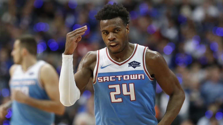 Sacramento's Buddy Hield. The Kings and Pacers will play pre-season games in India.