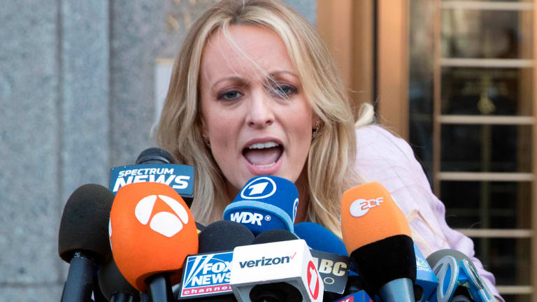 Speaking out: Stormy Daniels is making waves despite a gag order preventing her from speaking about her alleged affair with Donald Trump.