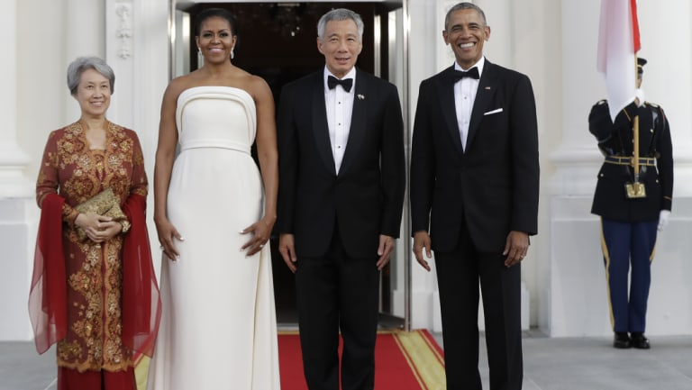 First lady Michelle Obama worn one of Maxwell's designs at a 2016 State Dinner.