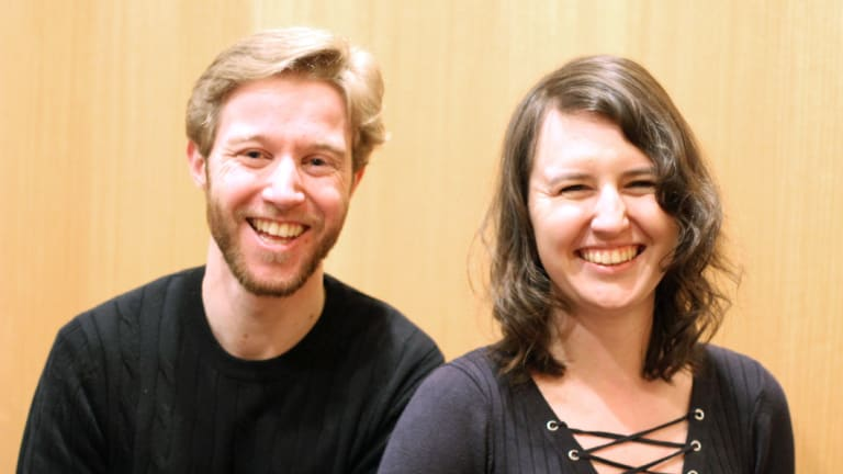 Canberra Sinfonia conductor and artistic director Leonard Weiss, left and orchestra manager Helena Popovic.
