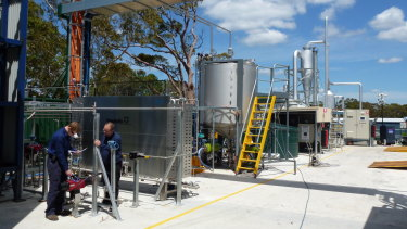 Part of Licella's plastics-to-oil pilot plant at Somersby in NSW.