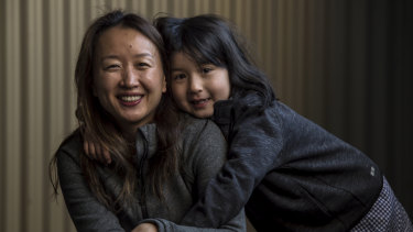 Wendy Shi and her six-year-old daughter Brianna. Ms Shi has settled a legal claim for birth trauma.