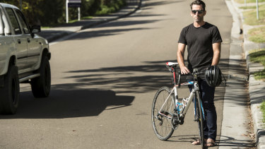 Shaken up: rider Adrian Collins.