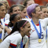 Crowd chants 'equal pay' as US star Megan Rapinoe declares 'we're over it'