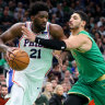Embiid stars in 76ers' win over Boston