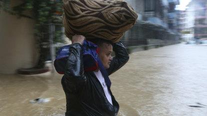 Floods, landslides leave scores dead across Nepal, India