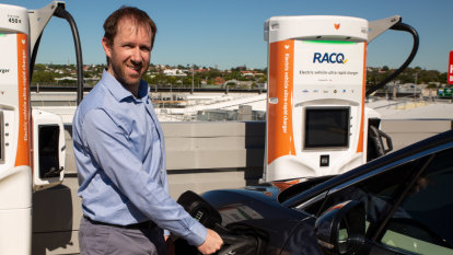Charging electric cars in Queensland will be 'half the cost of petrol'