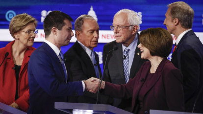 'Divisive, toxic, exhausting': Democratic rivals finally aim fire at Bernie Sanders