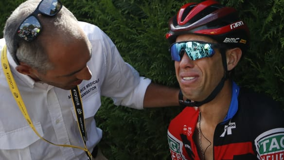 Porte out of Tour de France with broken collarbone