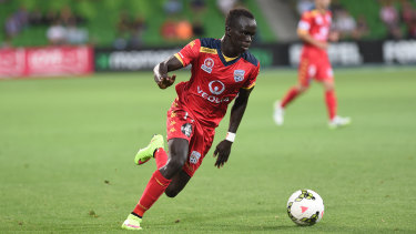 Mabil has long been comfortable with the ball at his feet taking on defenders.
