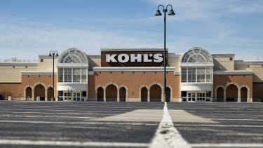 An empty parking outside a closed Kohl's store is shown in Indianapolis, Indiana.