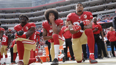 Controversy over the treatment of Colin Kaepernick (centre) impacted last season's showpiece event.