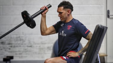 Bennell at Melbourne training on Tuesday.