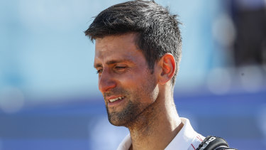 The 17-time grand slam winner was moved to tears by the sight of 4000 fans and some of the world's best players at his Serbian complex.