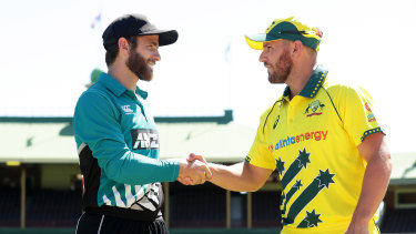 Kane Williamson and Aaron Finch led New Zealand and Australia respectively in a series that was aborted in March.